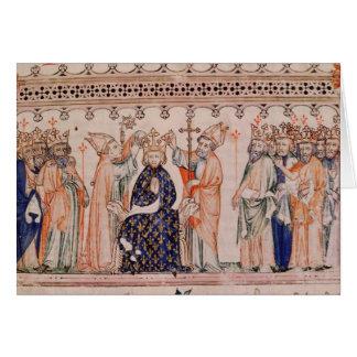Cartes Consécration Philippe III le Hardi Roi de