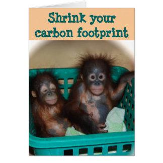 Cartes Conseil d'empreinte de pas de carbone