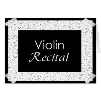 Cartes Considérant de violon