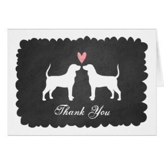 Cartes Coonhounds épousant le Merci