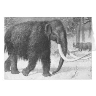 Cartes Copie d'antiquité de mammouth laineux