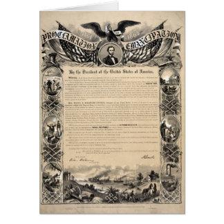 Cartes Copie de proclamation d'émancipation