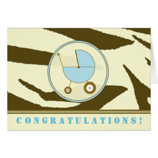 Cartes Copie de zèbre de Brown/carte de félicitations