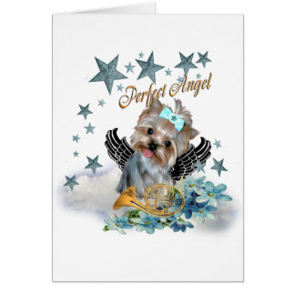 Cartes Copie parfaite d'ange de Yorkshire Terrier