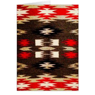 Cartes Copie tribale de conception de Navajo de Natif