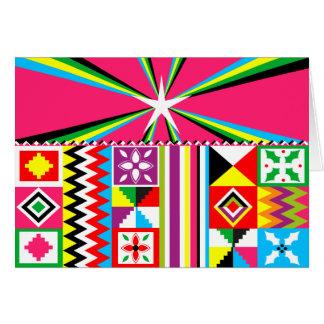 Cartes Copie tribale de motif de tissu de Kente