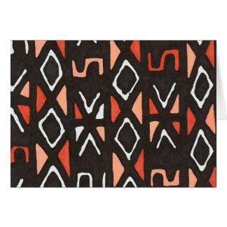 Cartes Copie tribale de Mudcloth d'Africain orange