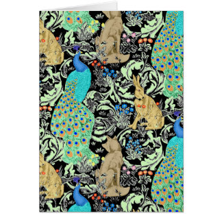 Cartes Copie, turquoise et neutres de paon de Nouveau