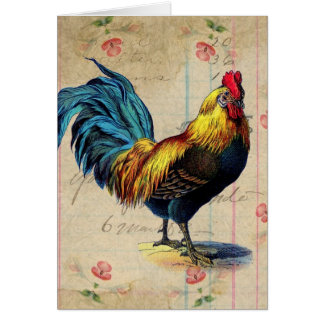 Cartes Coq vintage, anniversaire