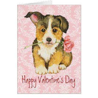 Cartes Corgi rose de Gallois de Pembroke de Valentine