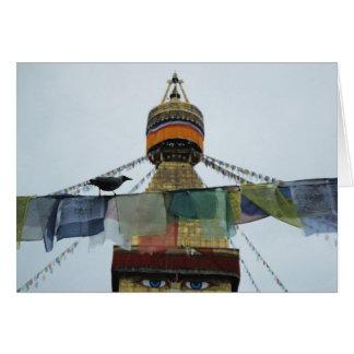 Cartes Corneille de Chambre aux prières Bodha Stupa,