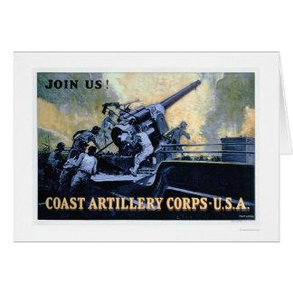 Cartes Corps d'artillerie de côte (US02042)