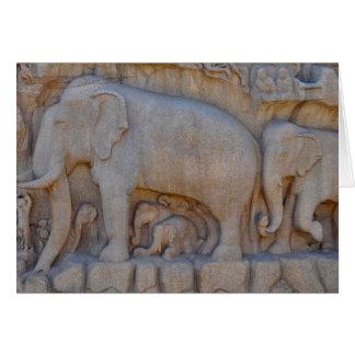 Cartes Cortège d'éléphant, Inde du sud