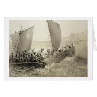 Cartes Cosaques d'Azov embarquant un corsaire turc