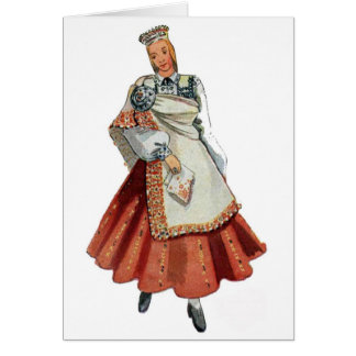 Cartes Costume Nica de Tradtitional de Latvian