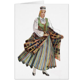 Cartes Costume traditionnel letton