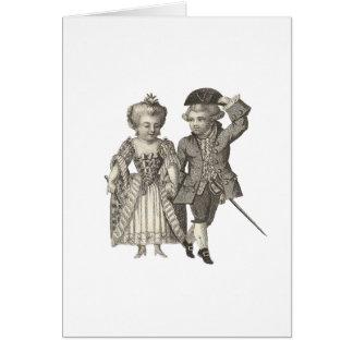 Cartes Costumes vintages de Marie Antoinette Louis XVI