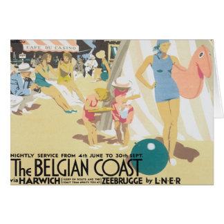 Cartes Côte belge vintage Belgique