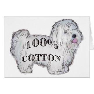Cartes Coton 100%