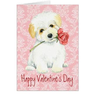 Cartes Coton rose de Valentine