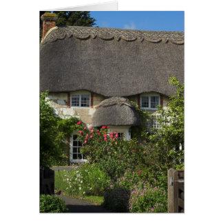 Cartes Cottage couvert de chaume