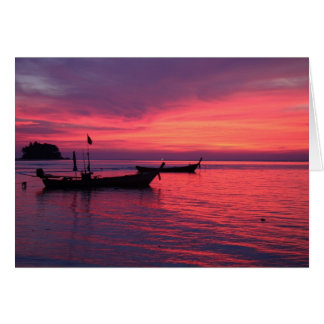Cartes Coucher du soleil à la plage de NaI Yang, Phuket,