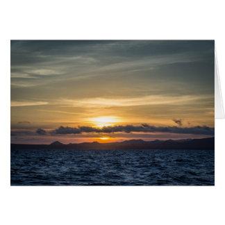 Cartes Coucher du soleil à l'île de Bartolome