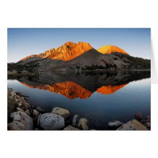 Cartes Coucher du soleil Alpenglow de lac virginia -