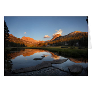Cartes Coucher du soleil Alpenglow de pré de McClure -