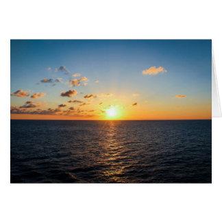 Cartes Coucher du soleil au-dessus de l'Océan Atlantique