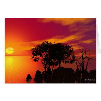 Cartes Coucher du soleil au lac