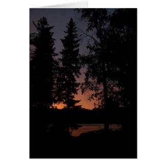 Cartes Coucher du soleil au lac cinq