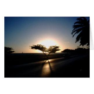 Cartes Coucher du soleil dans Aruba