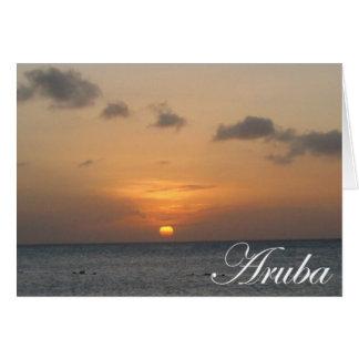 Cartes Coucher du soleil d'Aruba