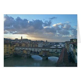 Cartes Coucher du soleil de Florence - d'Arno