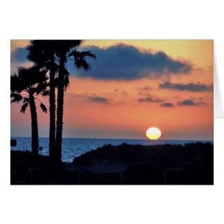 Cartes Coucher du soleil de la Californie à la plage