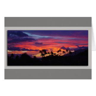 Cartes Coucher du soleil de Maui