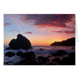 Cartes Coucher du soleil de plage de Muir