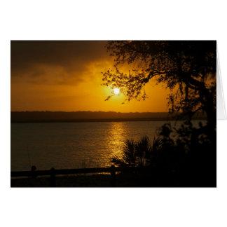Cartes coucher du soleil de rivière