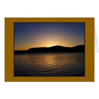 Cartes Coucher du soleil de Tahoe