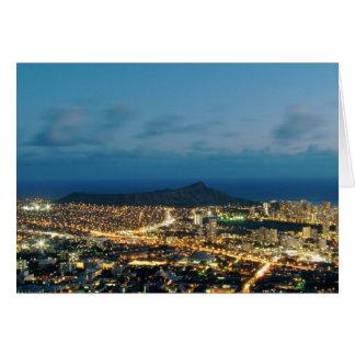 Cartes Coucher du soleil de Waikiki