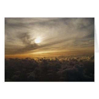 Cartes Coucher du soleil des cieux de Maui