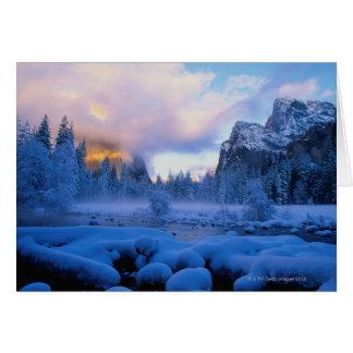 Cartes Coucher du soleil d'hiver en parc national de