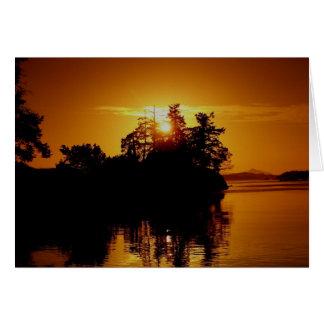 Cartes Coucher du soleil d'île de Golfe