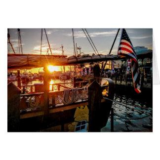 Cartes Coucher du soleil - Harborfest, Norfolk, VA