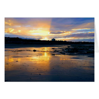 Cartes Coucher du soleil sur la plage à Newcastle