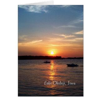 Cartes Coucher du soleil sur le lac Okoboji, Iowa