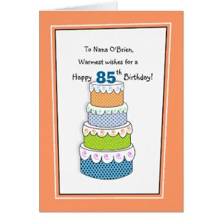 Cartes Couches des souhaits 85th ou de tout anniversaire