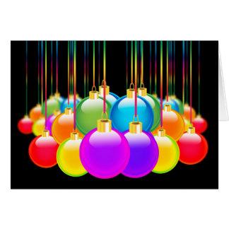 Cartes Couleur gaie d'arc-en-ciel de diversité de Noël de