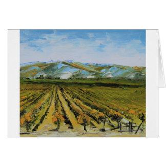 Cartes Couleurs de Napa Valley, pays de vin la Californie